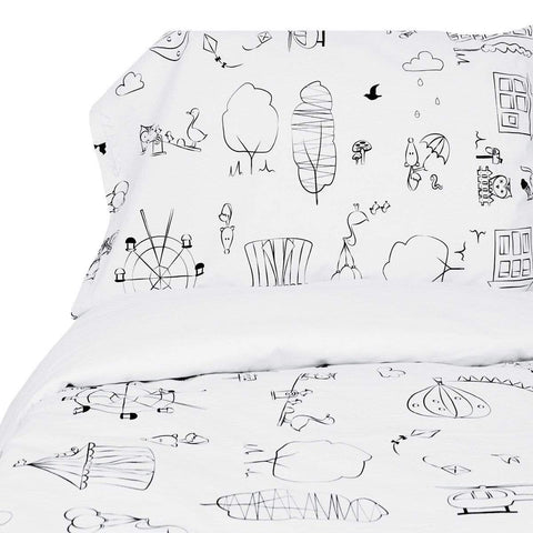 Double duvet cover +2 pillow cases - coloring fabric