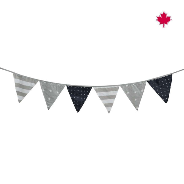 Flag garland-navy