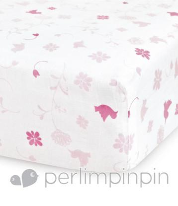 Crib COTTON muslin FITTED sheet
