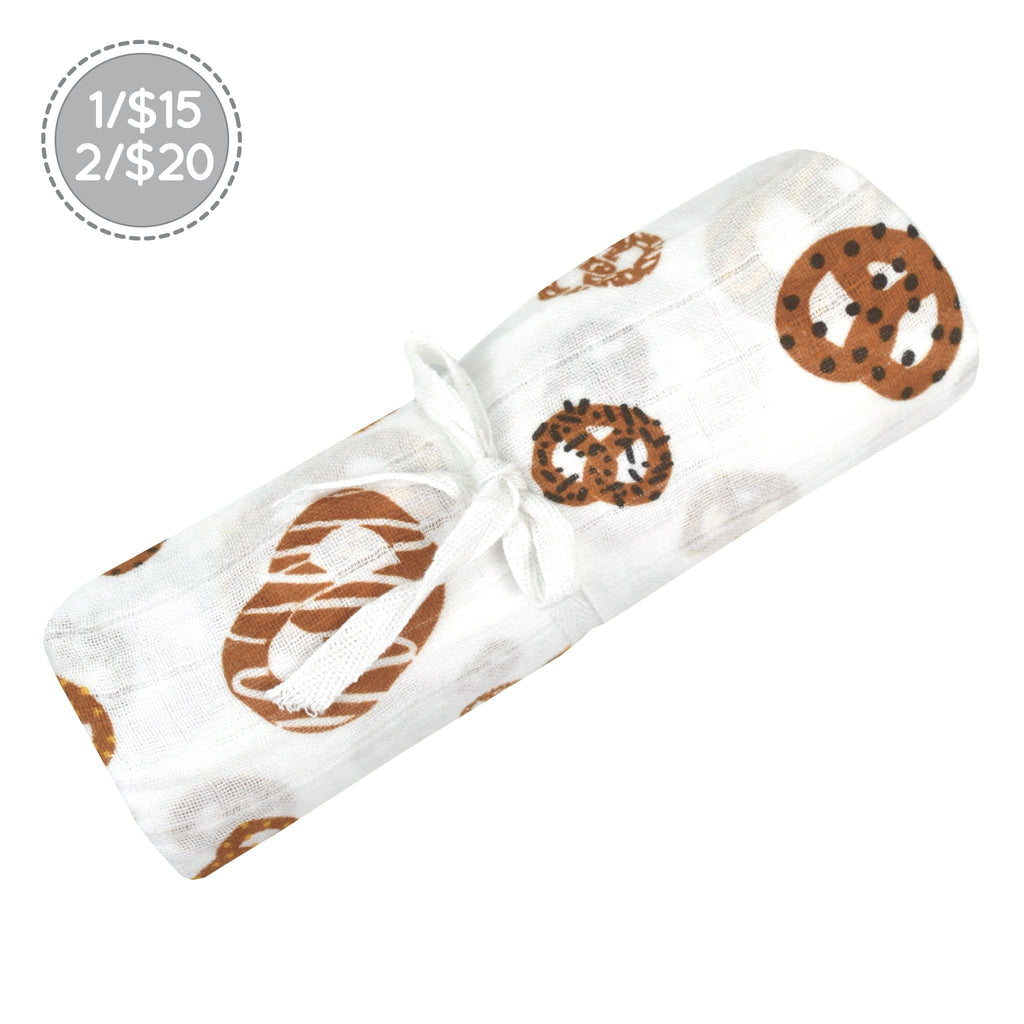 Cotton muslin swaddle - Pretzel