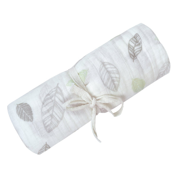 Cotton muslin swaddle - Leaves