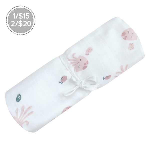 Cotton muslin swaddle - Jellyfish