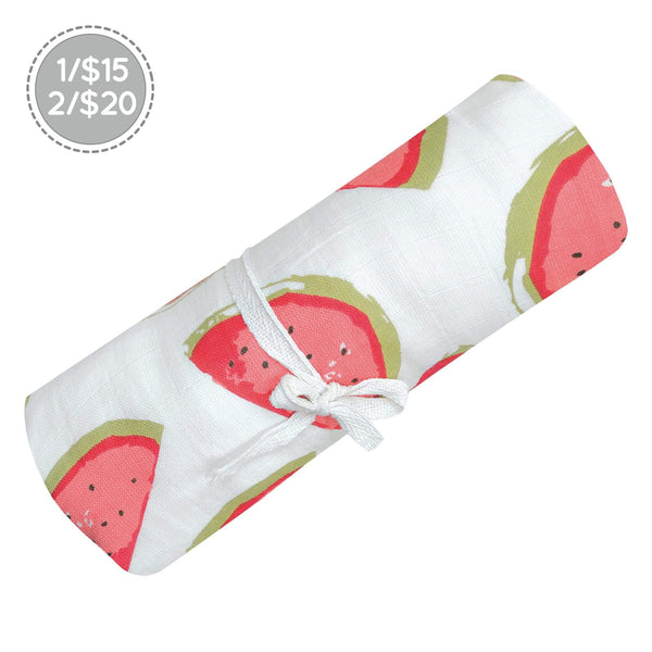 Cotton muslin swaddle - Watermelons