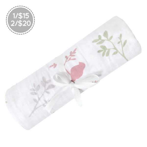 Cotton muslin swaddle - Birds