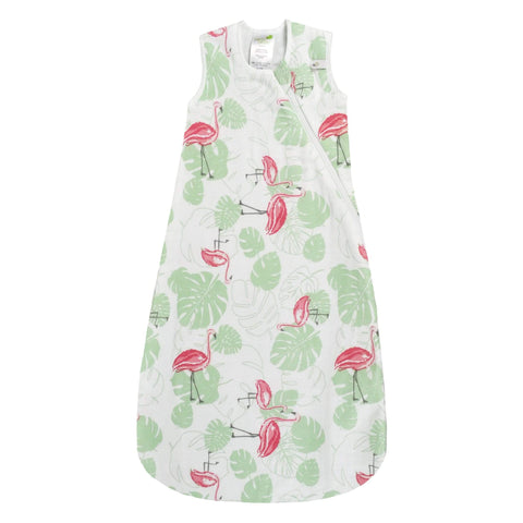 Cotton muslin sleep bag - Pink Flamingos