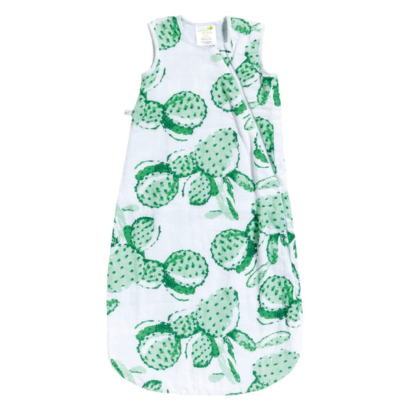Cotton muslin sleep bag - Cactus (0.7 tog)