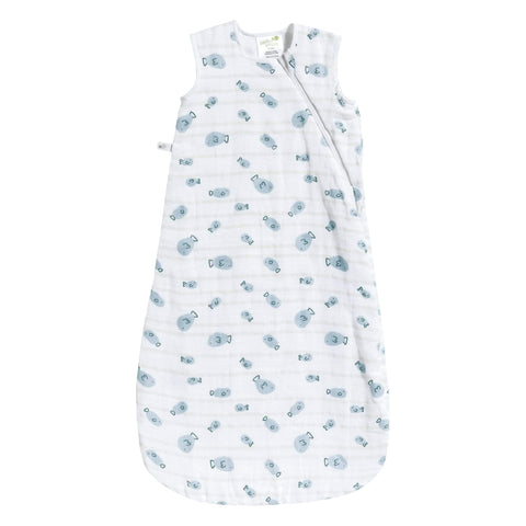 Cotton muslin sleep bag - Fish (0.7 tog)