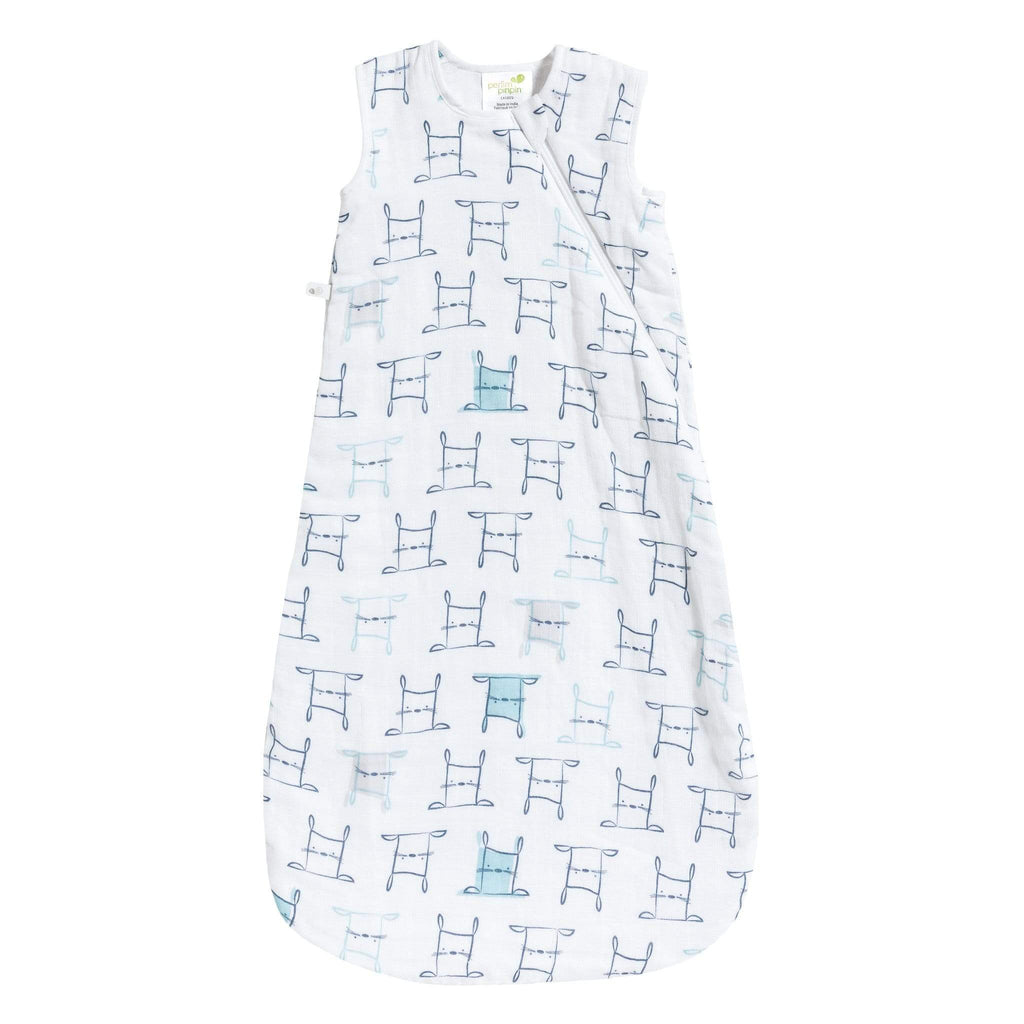 Cotton muslin sleep bag - Rabbits (0.7 tog)