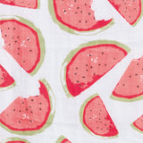 Cotton muslin sleep bag - Watermelons (0.7 tog)