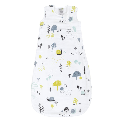 Cotton muslin sleep bag - Snails (0.7 tog)
