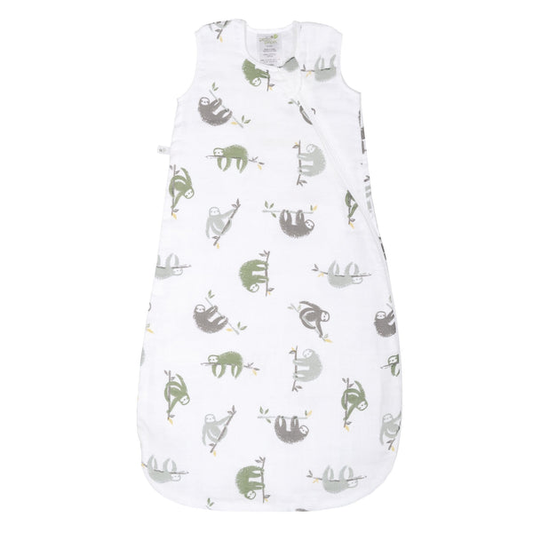 Cotton muslin sleep bag - Sloths (0.7 tog)