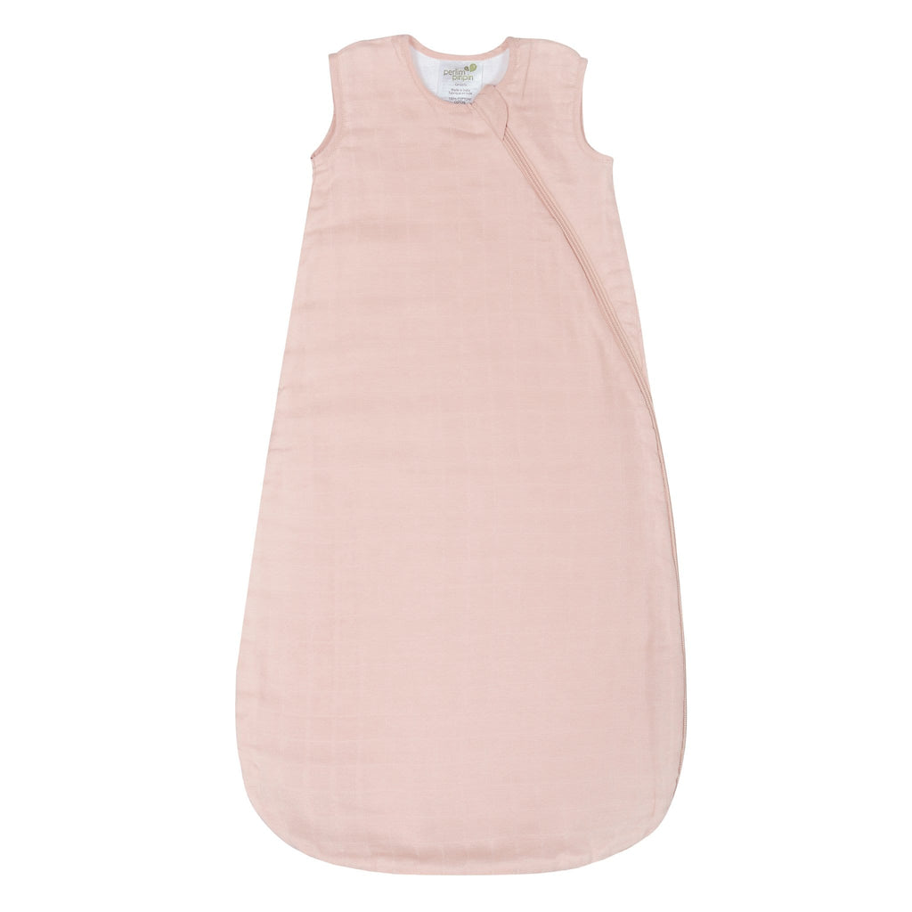 Cotton muslin sleep bag - Pink (0.7 tog)