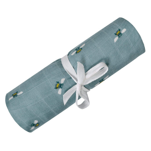 Bamboo muslin swaddle - Bees