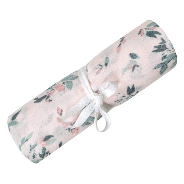 Bamboo muslin swaddle - Leaves