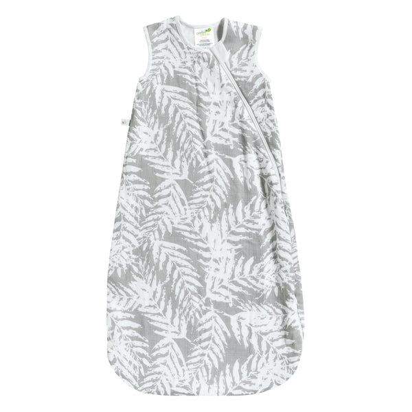 Bamboo muslin sleep bag - Leaves (1 tog)