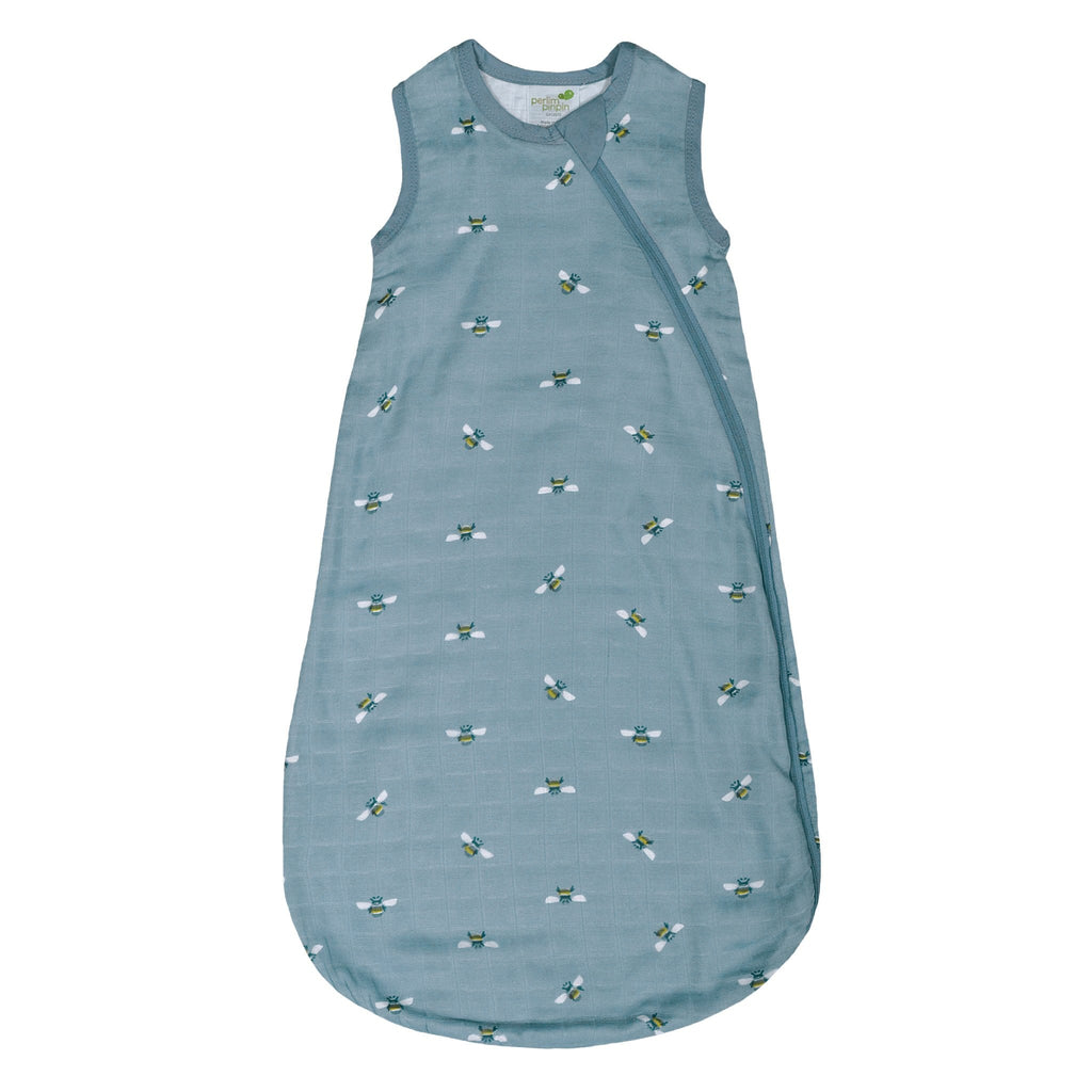 Bamboo muslin sleep bag - Bees (1 tog)