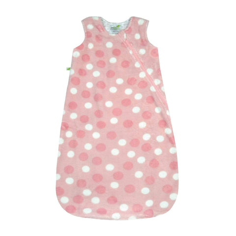 Plush sleep bag - polka dots (1.5 togs)