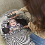 Baby cover & nursing poncho - black stripes