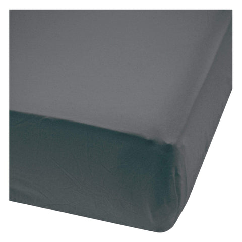 Baby bamboo fitted sheet - charcoal