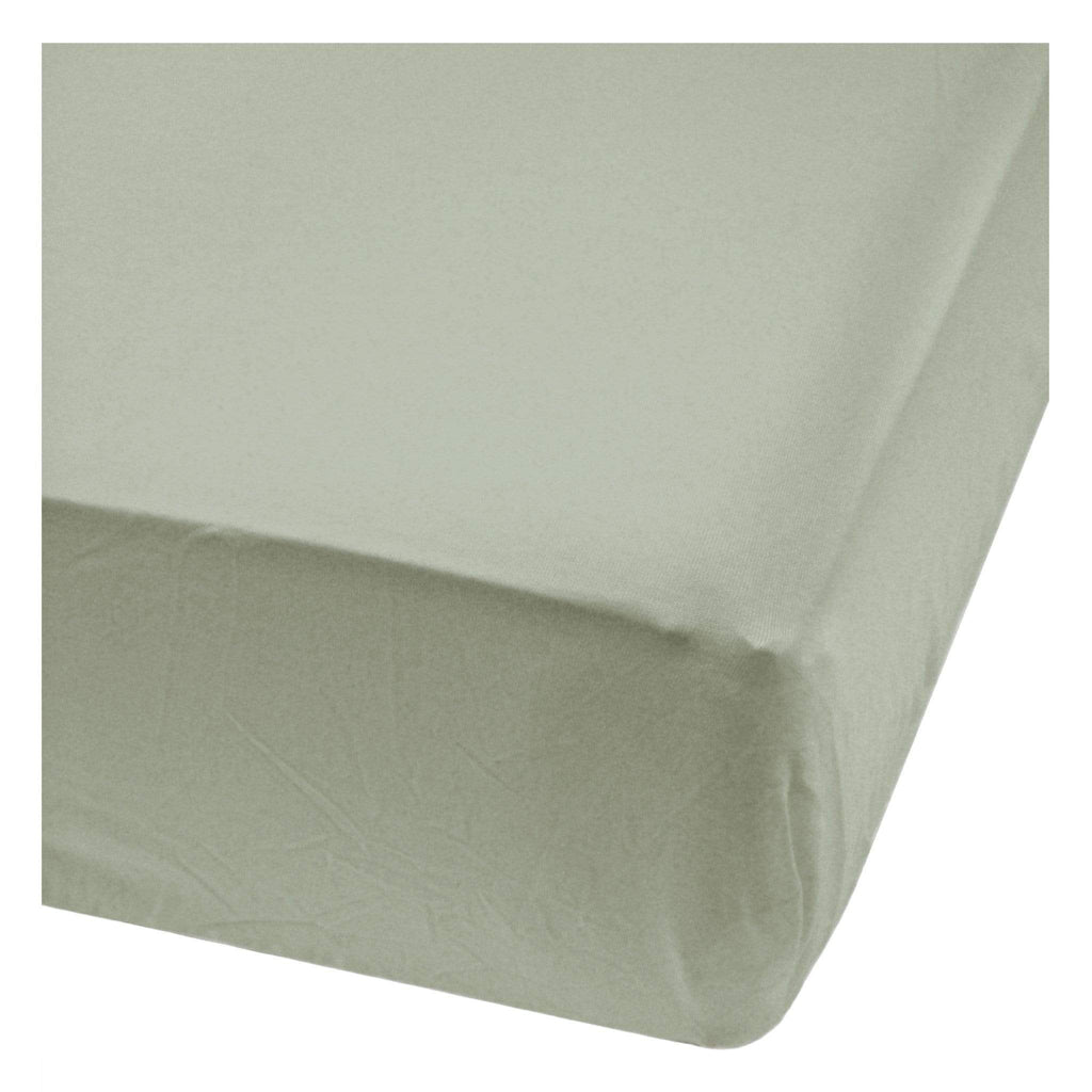 Baby bamboo fitted sheet - moss green