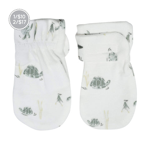 Bamboo scratch mittens - turtles