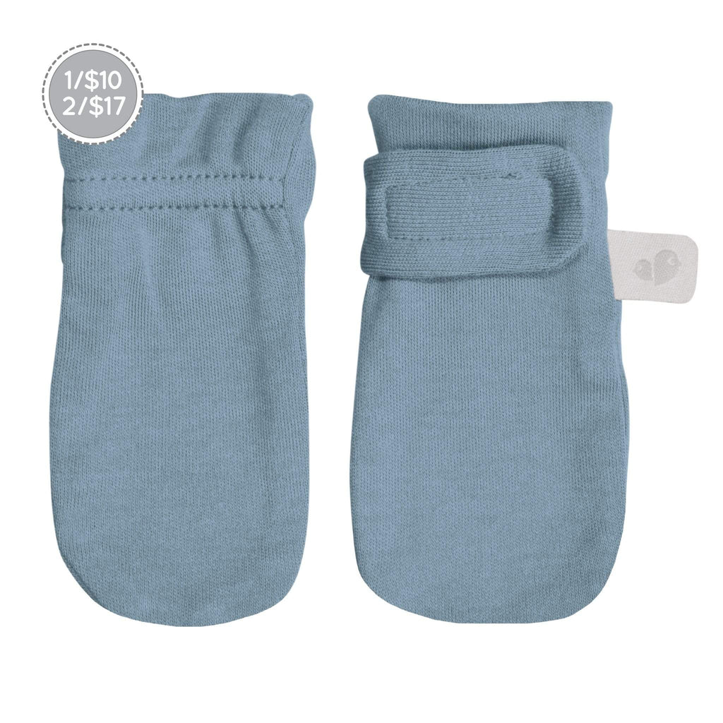 Bamboo scratch mittens - steel blue