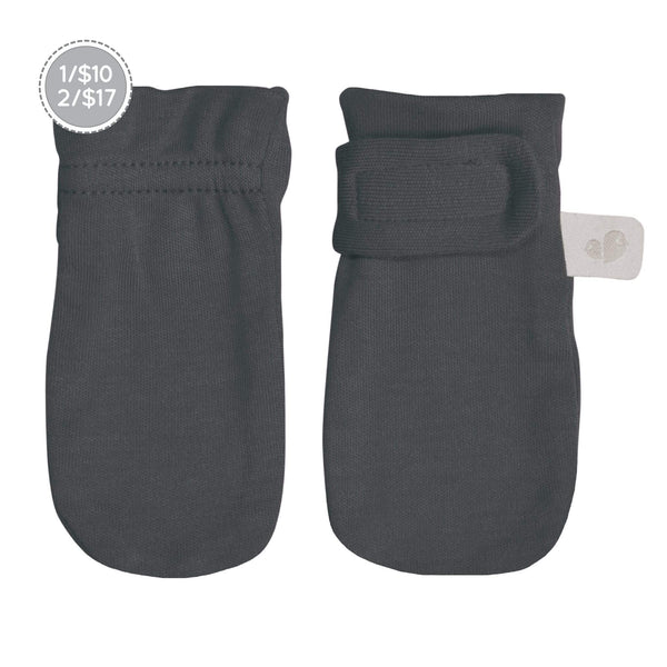 Bamboo scratch mittens - charcoal