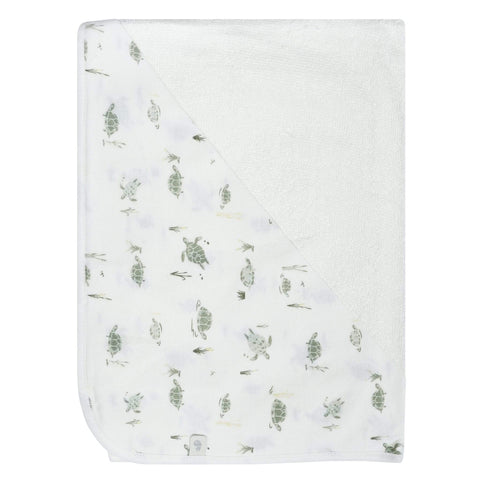 Bamboo hooded towel - turtles