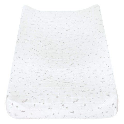 Cotton muslin change pad cover - stars