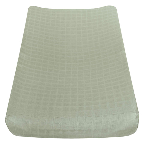 Cotton muslin change pad cover - kaki
