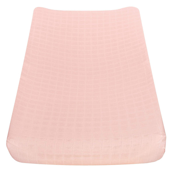 Cotton muslin change pad cover - pink
