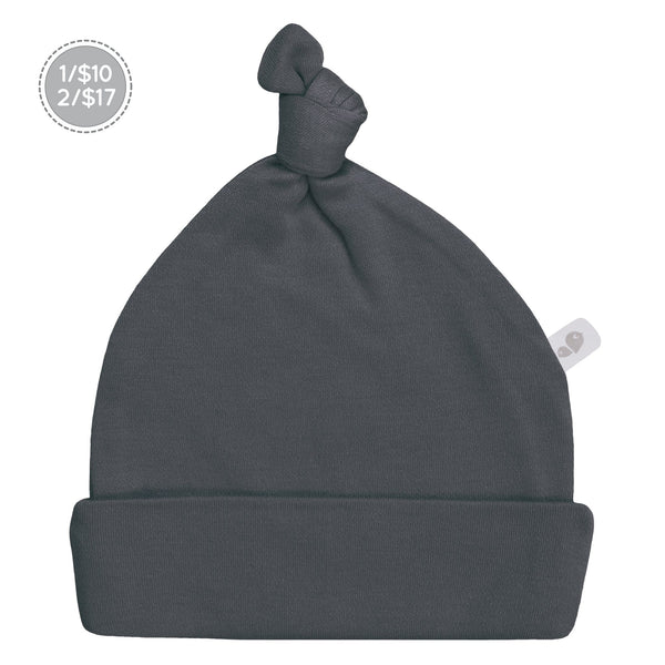 Bamboo knotted hat - charcoal