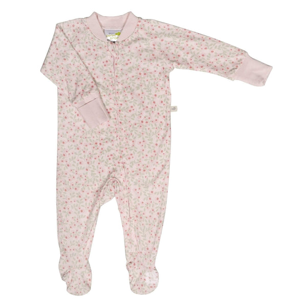 Bamboo baby sleeper - flowers
