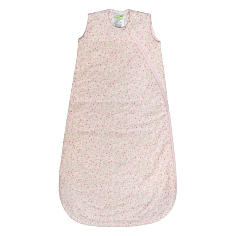 Quilted bamboo sleep bag - flowers (1.0 tog)