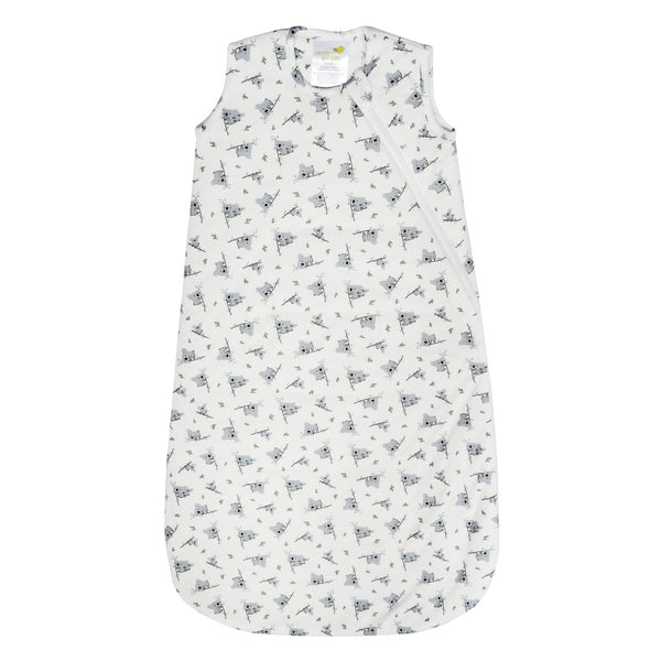 Quilted bamboo sleep bag - koalas (1.0 tog)