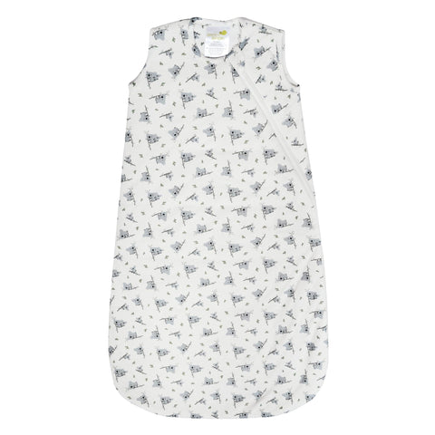 Quilted bamboo sleep bag - koalas (2.5 togs)