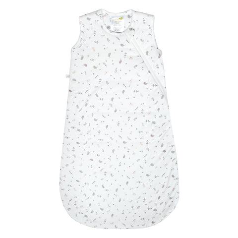 Quilted bamboo sleep bag - birds (2.5 togs)