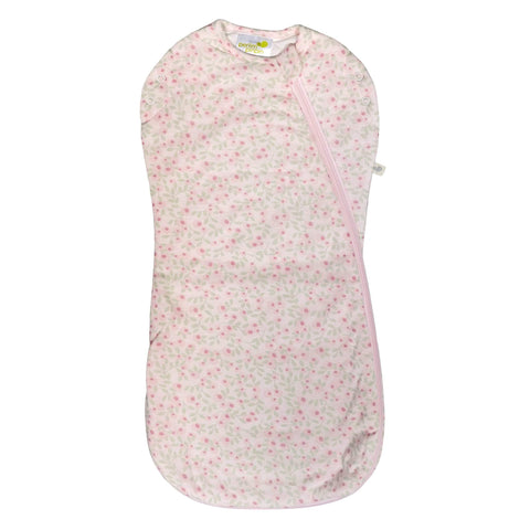 Bamboo newborn sleep bag - flowers (1.0 tog)