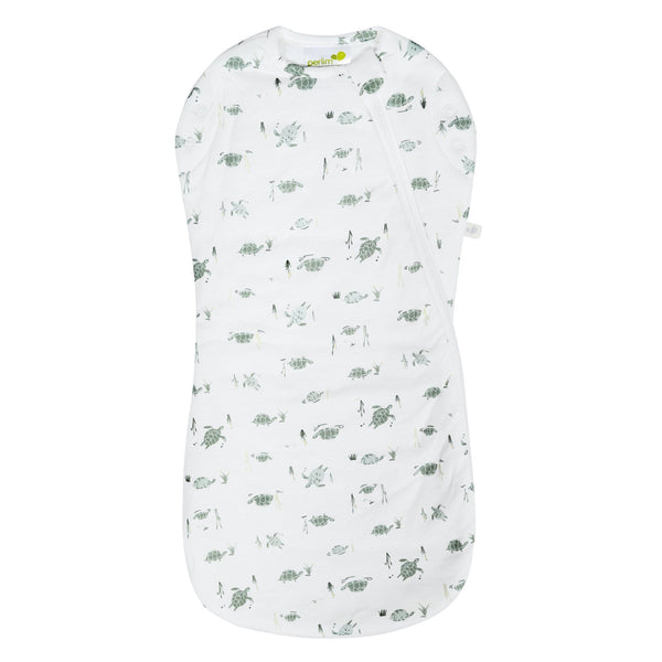 Bamboo newborn sleep bag - turtles (1.0 tog)