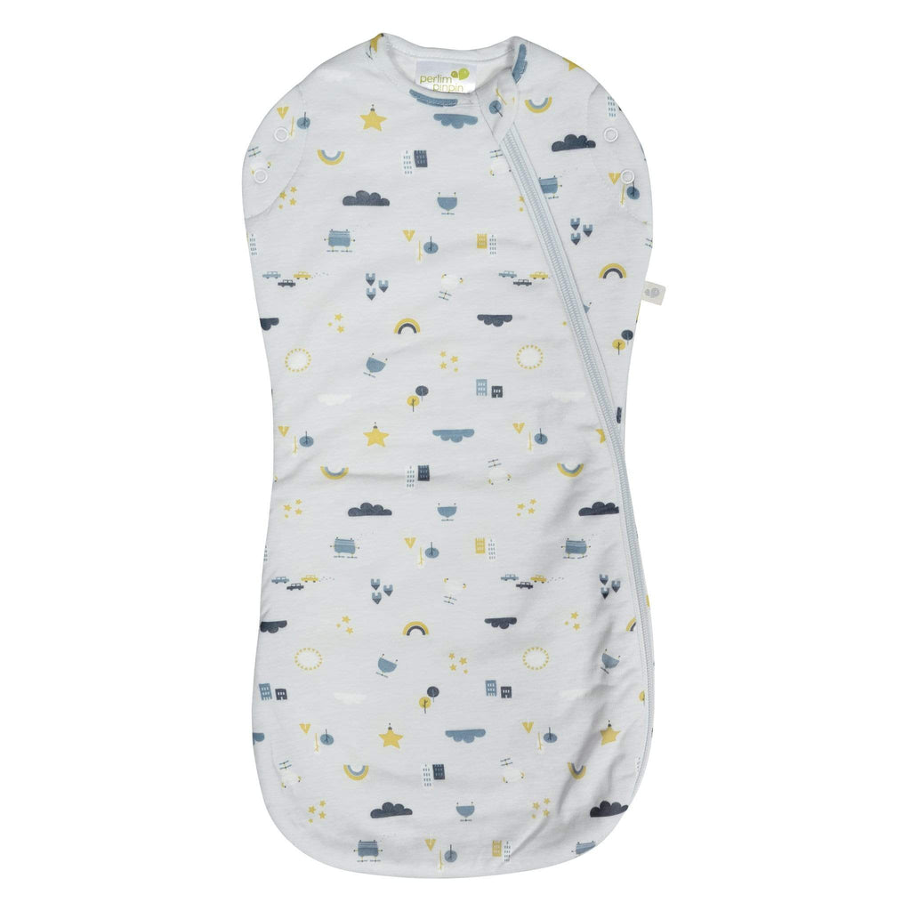 Bamboo newborn sleep bag - city (1.0 tog)