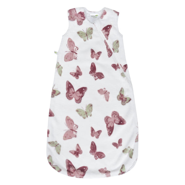 Plush sleep bag - butterflies (1,5 togs)
