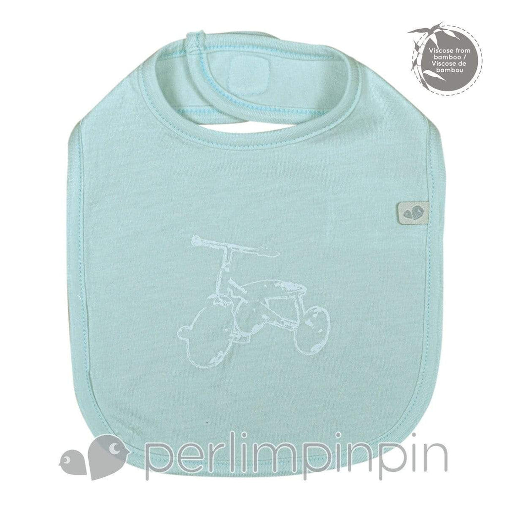 BAMBOO bib - mint + tricycle