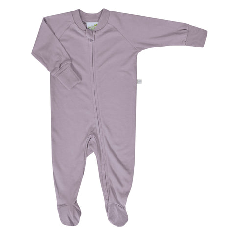 Bamboo baby sleeper - plum