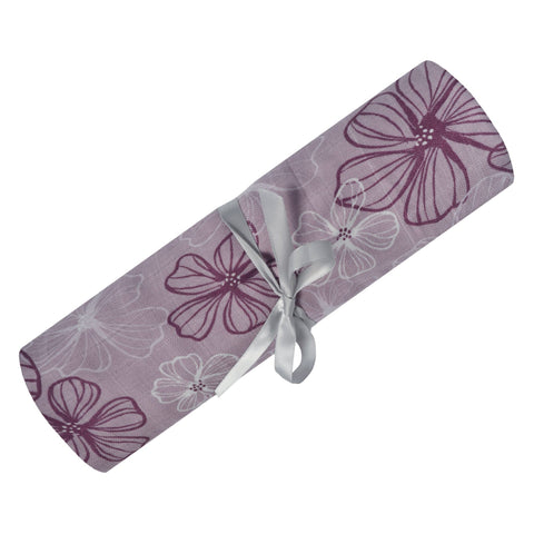 Bamboo muslin swaddle - pansies
