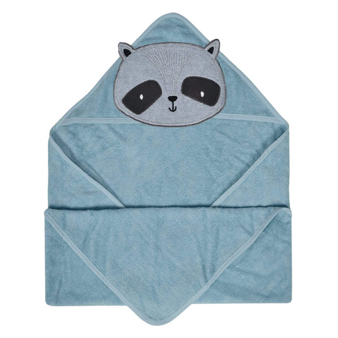 Baby hooded towel - raccoon