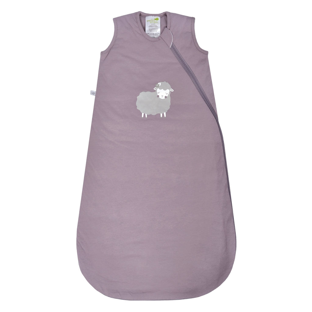 Quilted cotton sleep bag -  Plum sheep (1.0 tog)