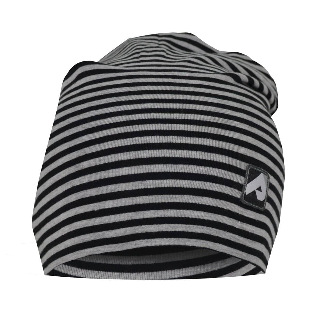 Cotton beanie - black stripes