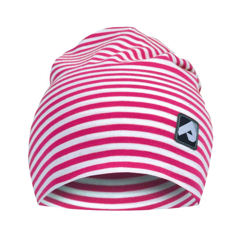 Cotton beanie - pink stripes