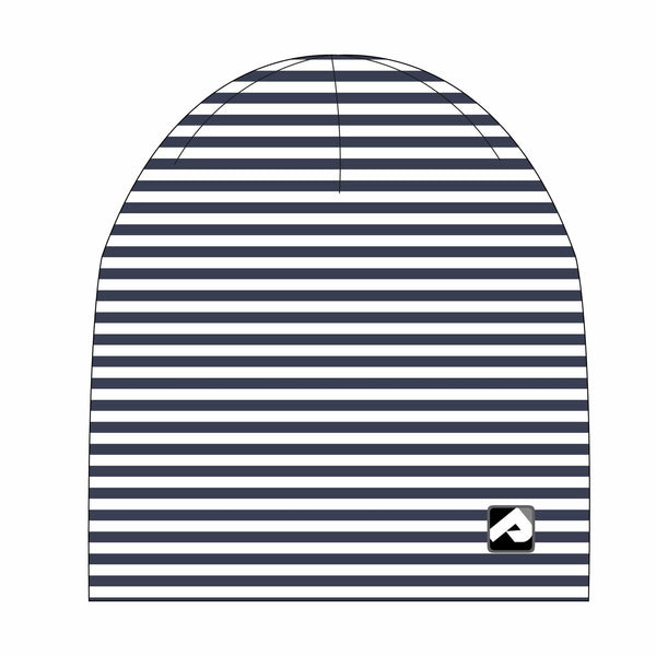 Cotton beanie - Navy stripes