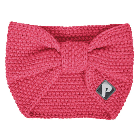 Knitted acrylic headband - coral